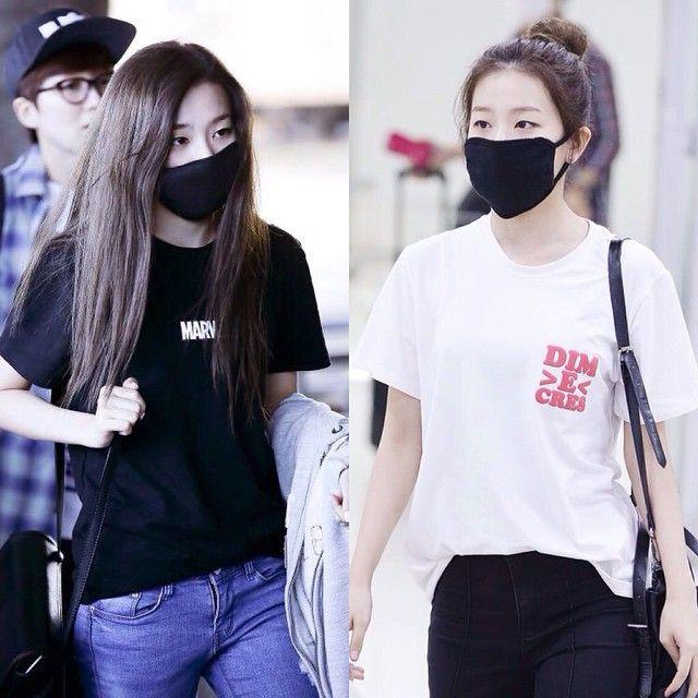 Korean Girl Black Mask Hairbuns Black White Cute Fashion Mask Korean Girl