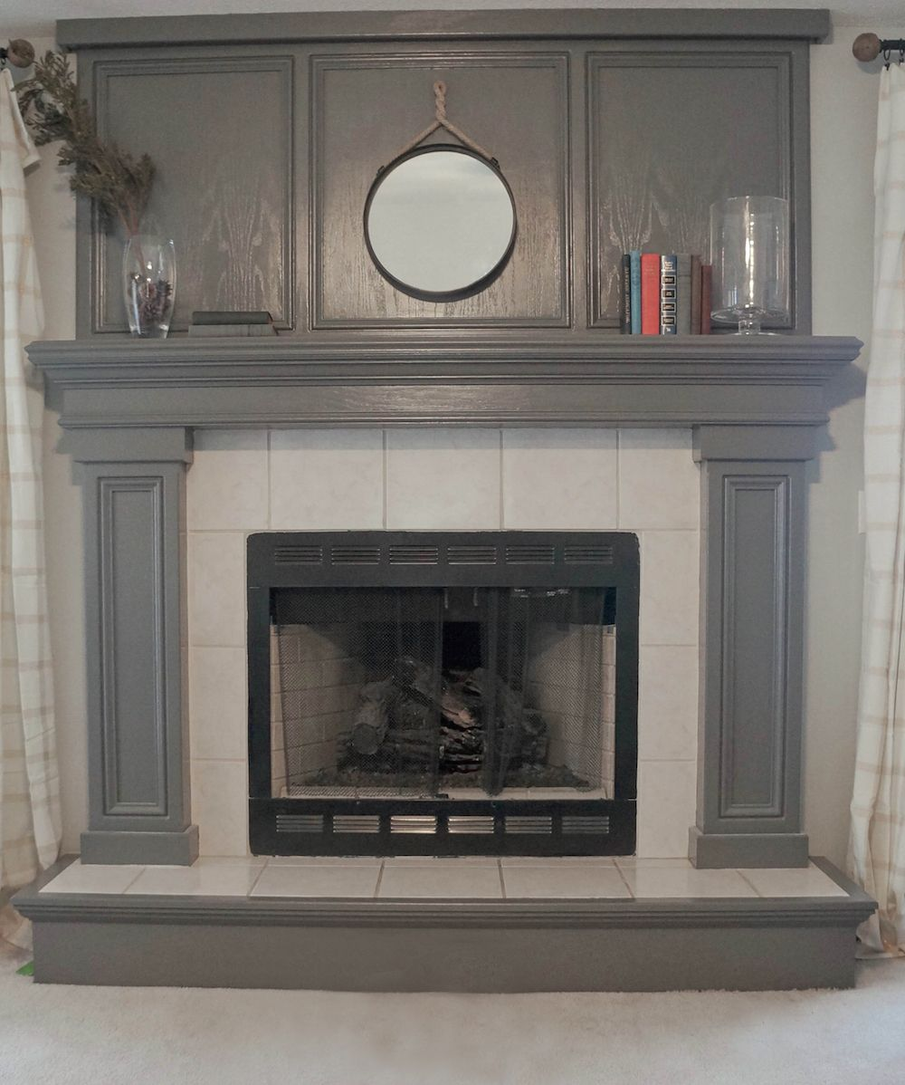 Hearth And Cabinets More: Before And After: An Oak Veneer Fireplace Gets A Makeover