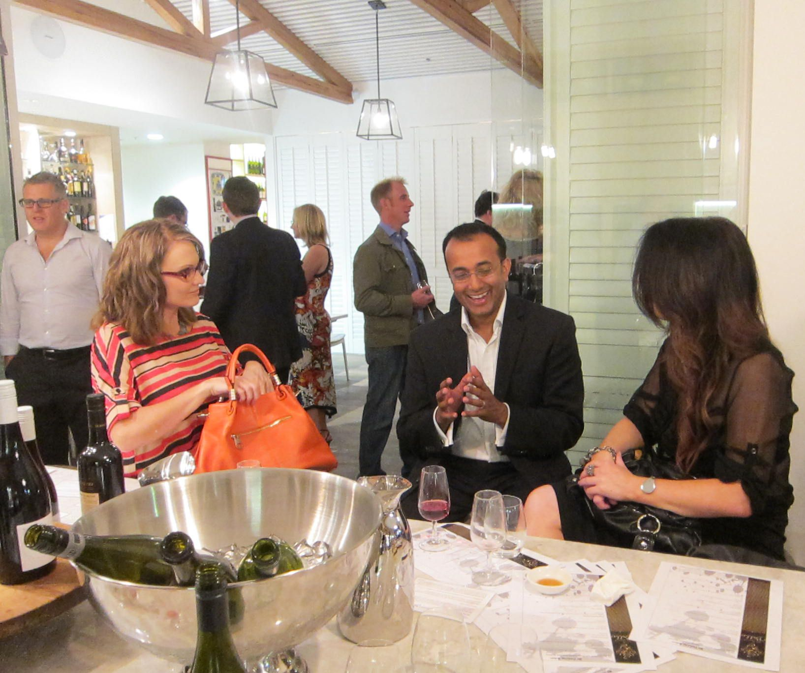 Serious discussions at The Gourmet Belle Wine Circle Launch shindig