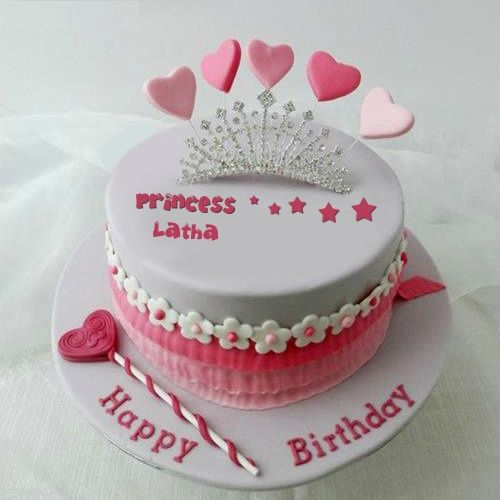 Write You Name On Princess Birthday Cakes For Girls Online Free Editor Can Generate Girl This Cake Picture In Unique And Easy
