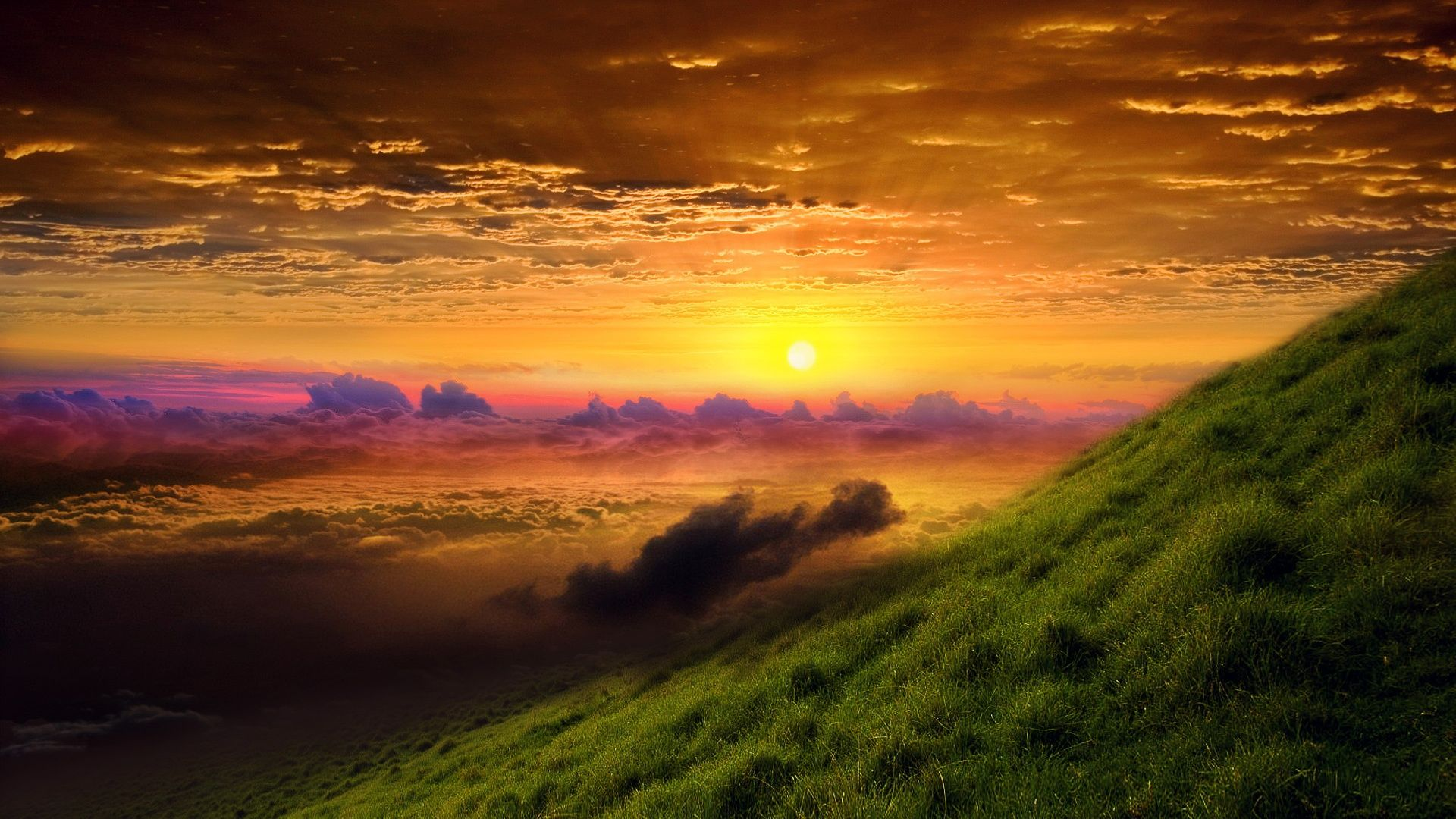 HD Nature Wallpaper with a Picture of Sunrise Glory in