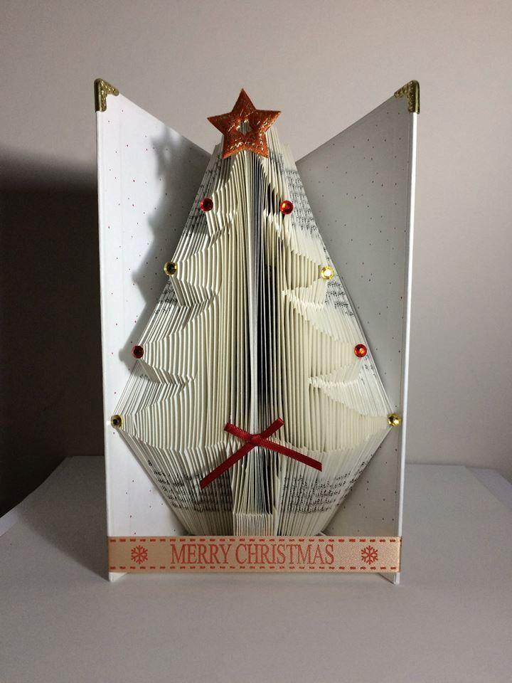 Christmas Tree Book Folding Pattern 178 Folds Etsy Book Folding Patterns Folded Book Art Book Art Diy Tutorial