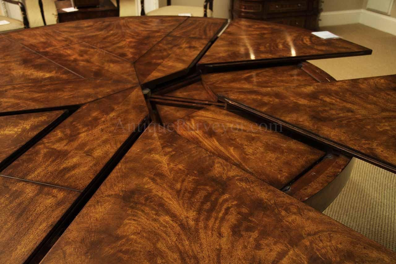 Round Mahogany Jupe Table For Sale   Large Round Expanding Table