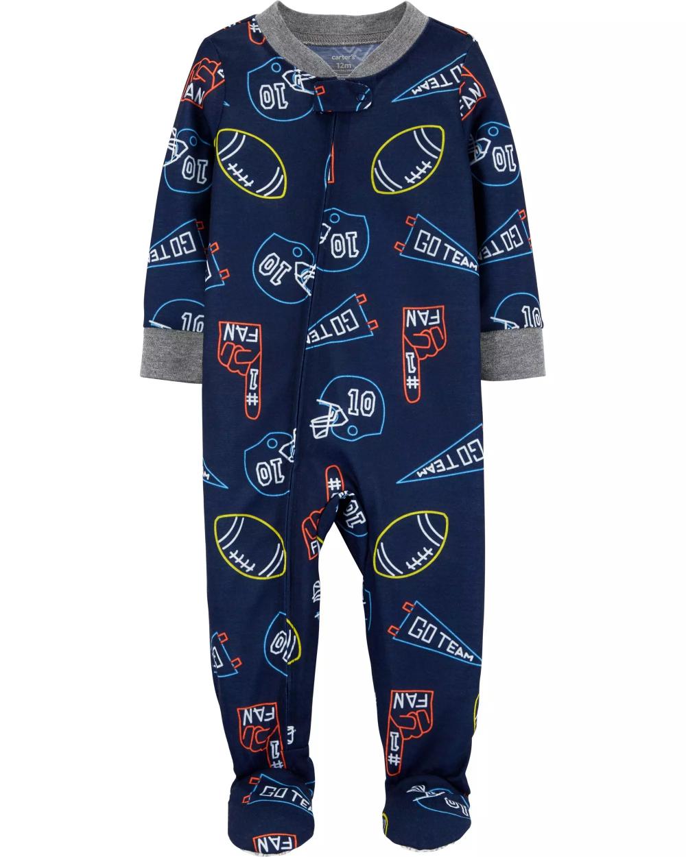 1Piece Sports Poly Footie PJs Kids pajamas, Boys