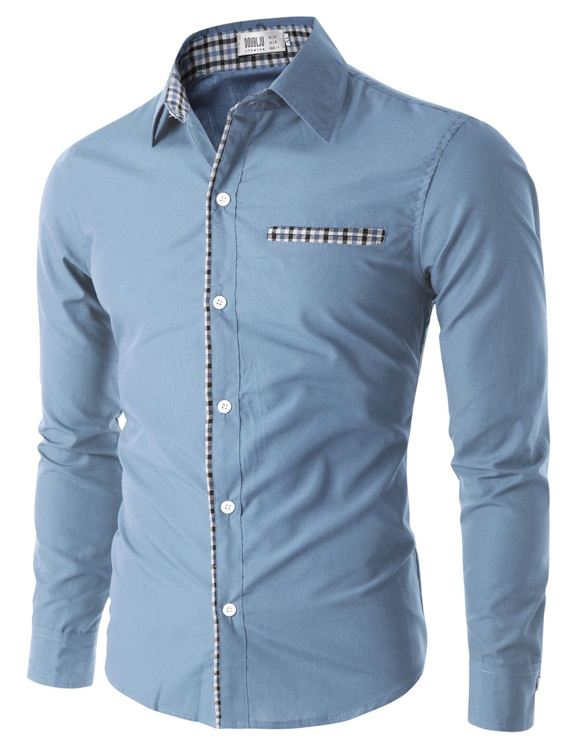 26.99 Doublju Men s Casual Button Down Shirt with Chest Pocket (CMTSTL06). Camisas  HombreCamisas ... 3f22459a845