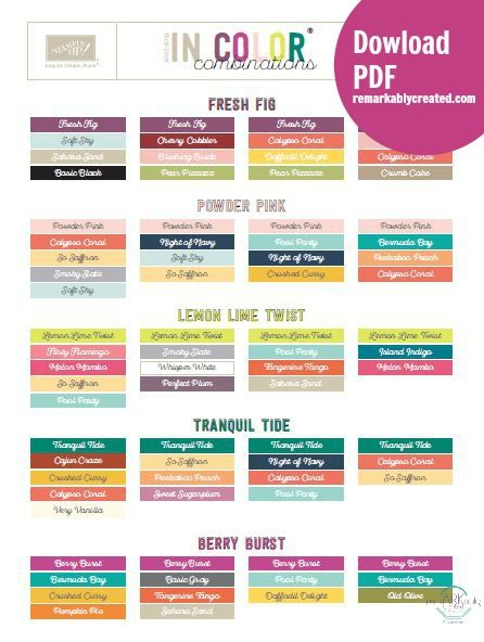 Free 2017 19 In Color Combination Chart Color Combos Pinterest