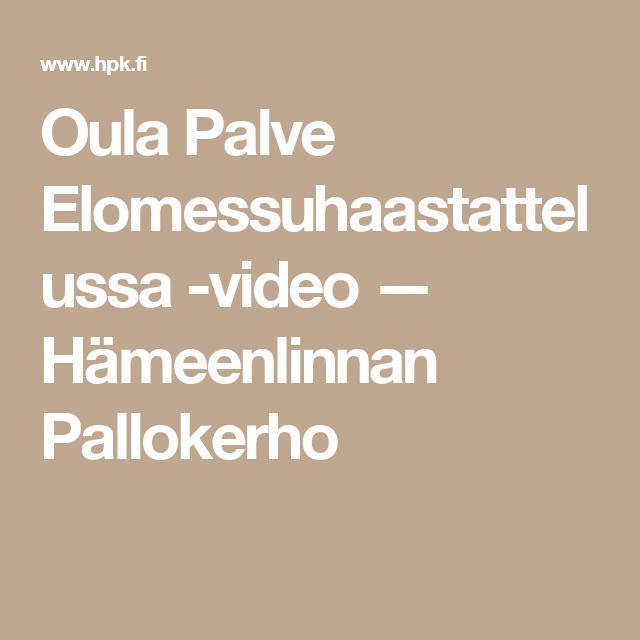 Oula Palve Elomessuhaastattelussa -video — Hämeenlinnan Pallokerho