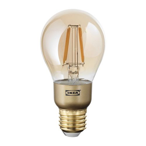 Lunnom Led Bulb E26 400 Lumen Dimmable Globe Brown Clear Glass In