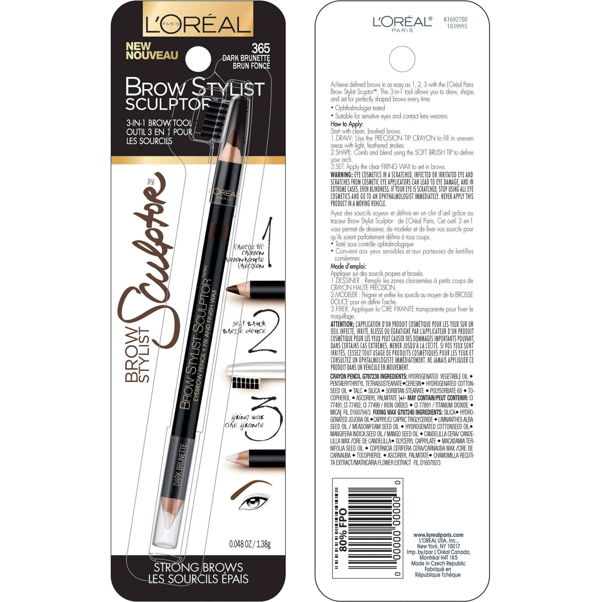 d7acb289520 SALE $6.19 - Achieve bold, defined brows in as easy as 1, 2, 3 with our L'Oreal  Paris Brow Stylist Sculptor. This 3-in-1 tool eyebrow pencil lets you draw,  ...