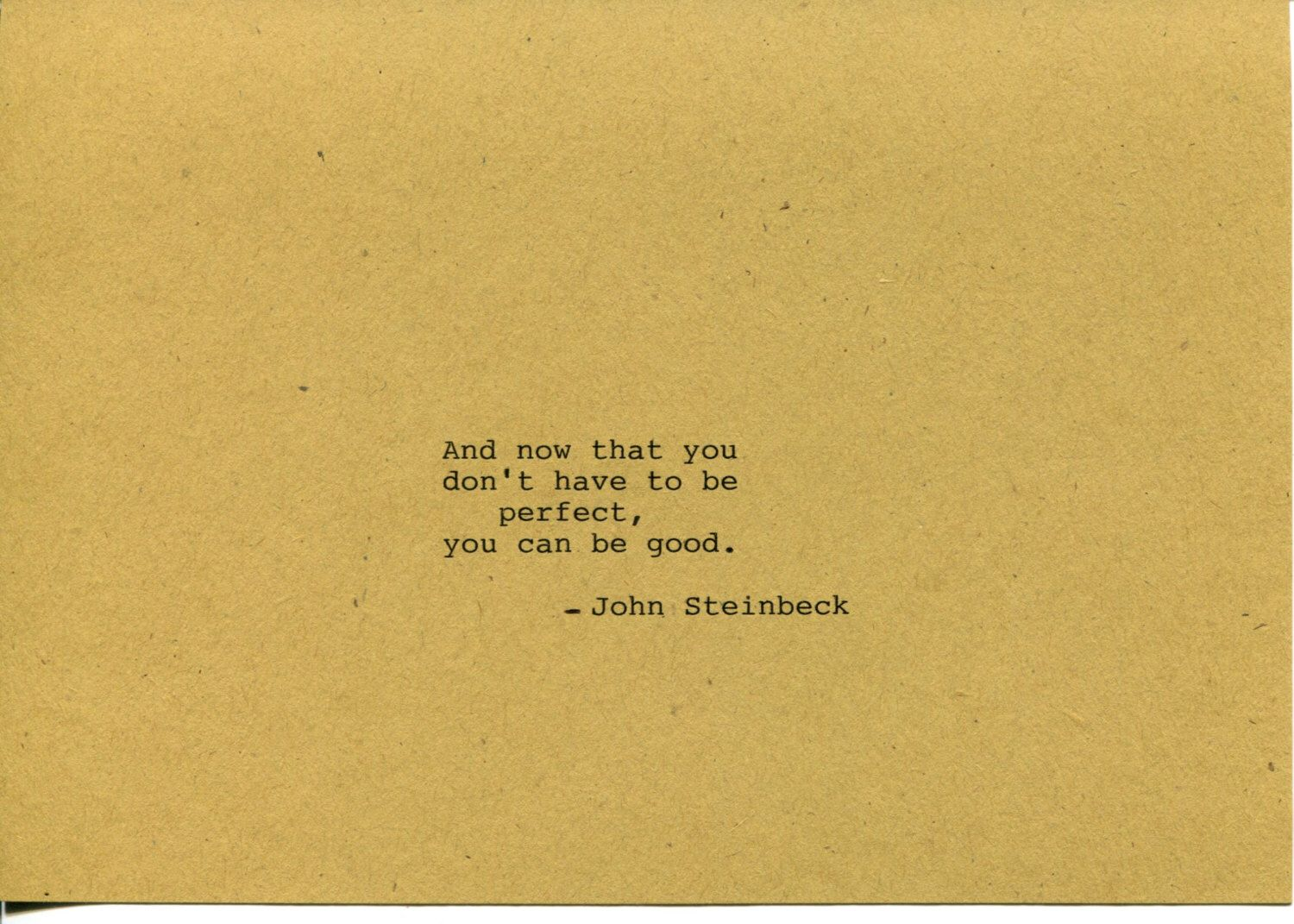 John Steinbeck Quote Made on Typewriter - East of Eden Classic Book ...
