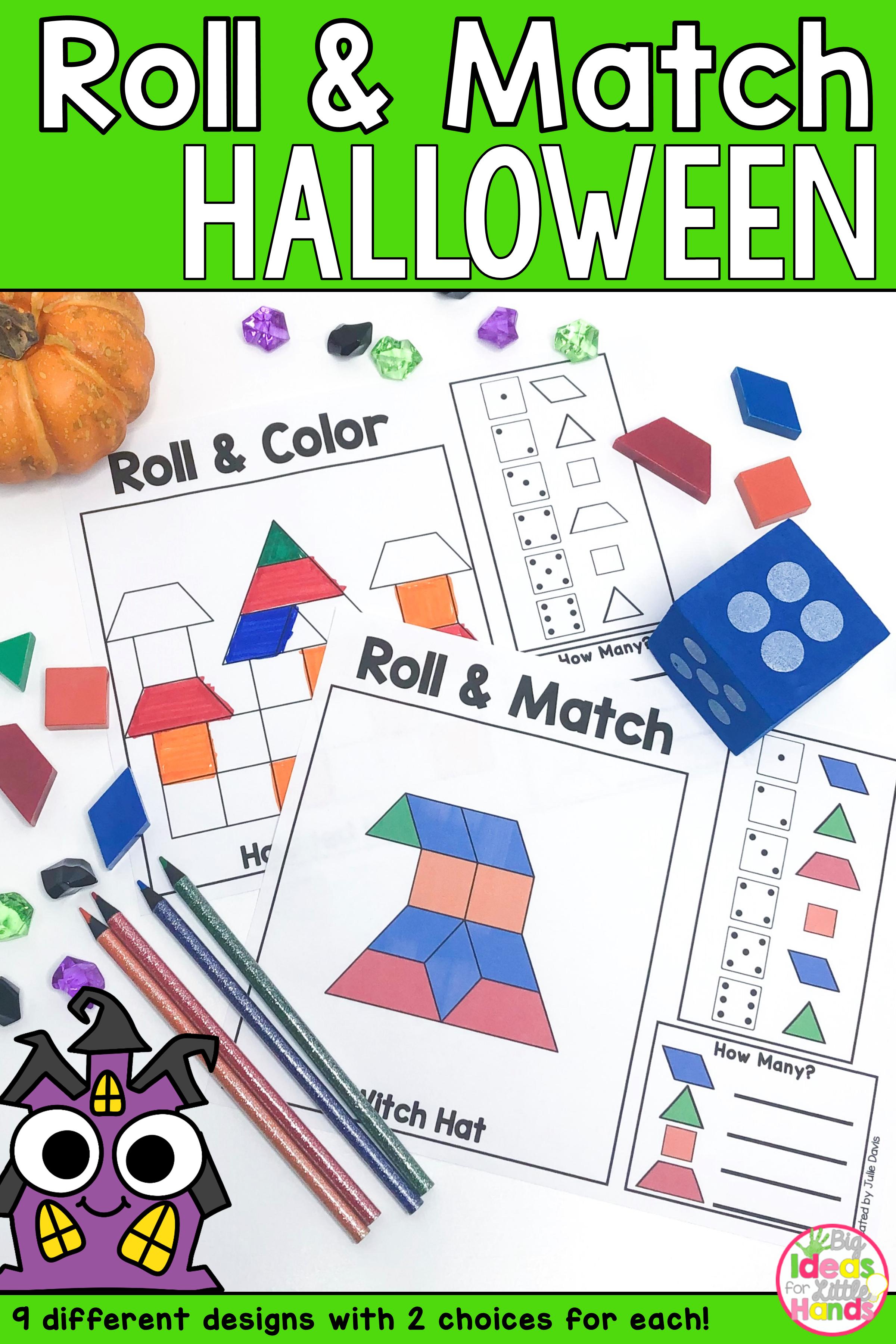 Pattern Blocks Mat Halloween Math Games