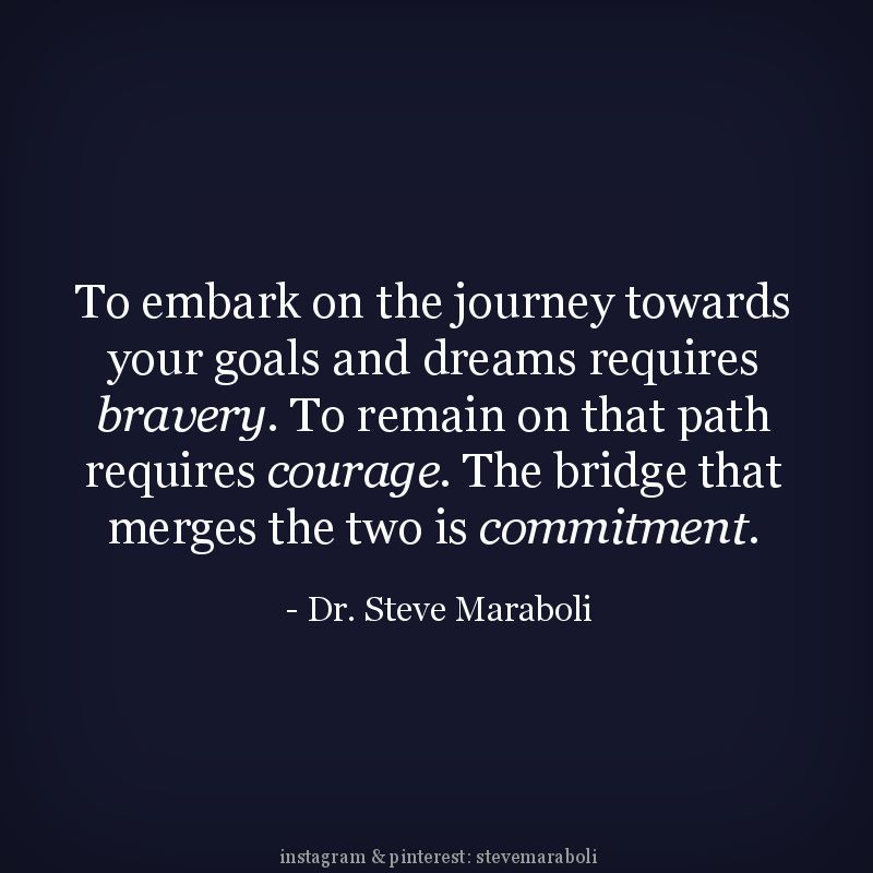 To Embark On The Journey Towards Your Goals And Dreams Requires