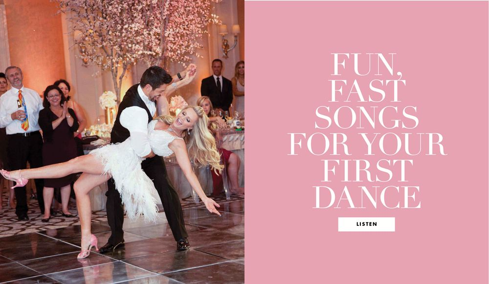 12 Upbeat Songs for Your First Dance
