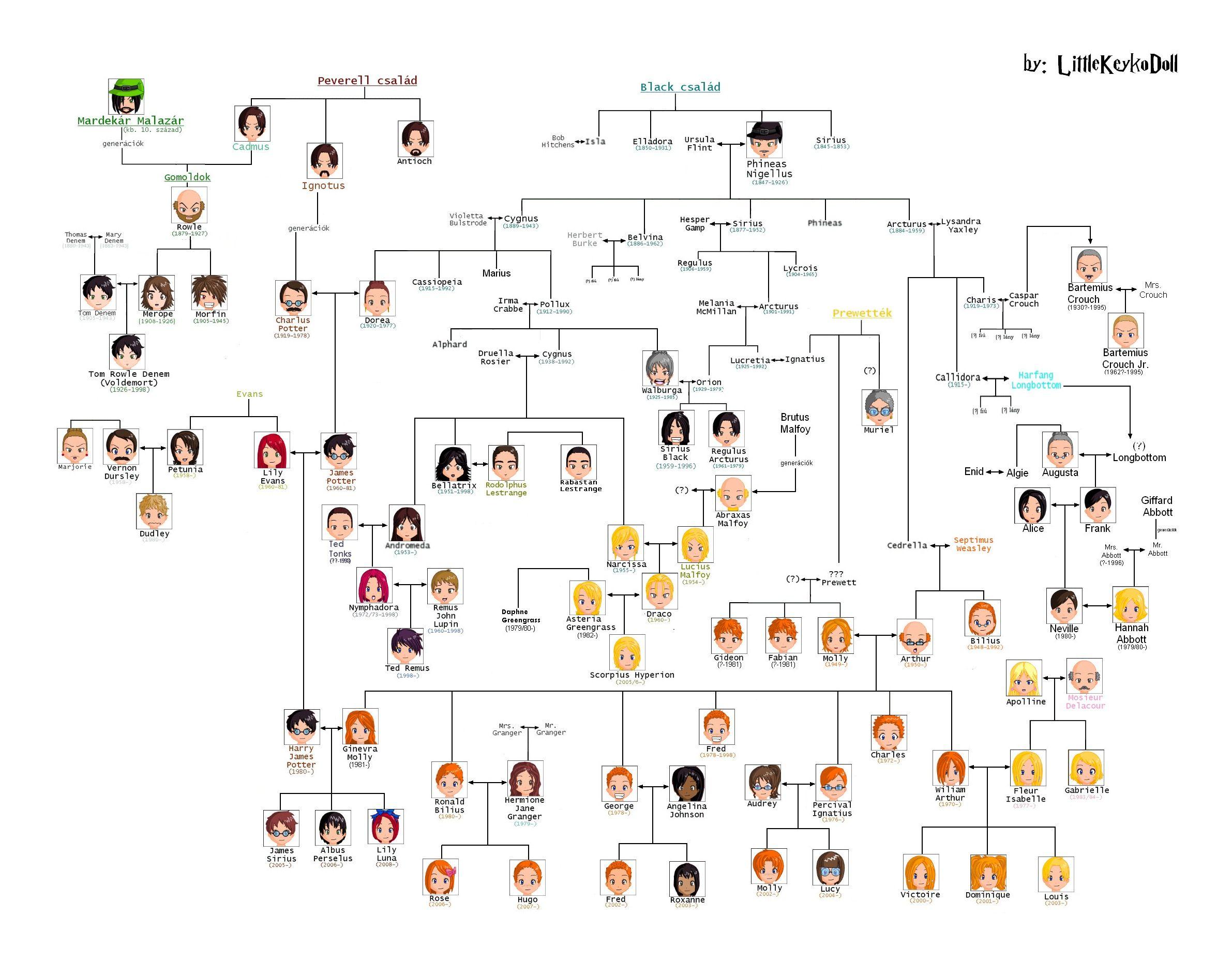 Harrypotter Family Tree Chart Full Size Harry Potter Family Tree Harry Potter Universal Harry Potter Memes