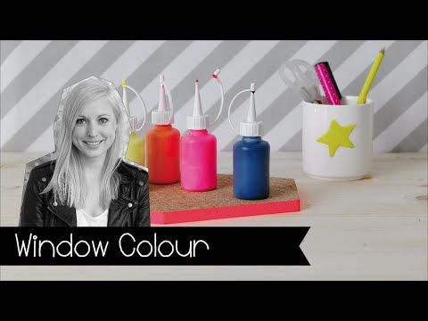 window color i fensterfarbe einfach selbst gemacht i diy i farben i kinnertied i 28 youtube. Black Bedroom Furniture Sets. Home Design Ideas