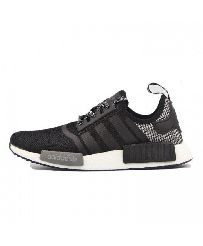 release date bc469 85795 Homme Adidas NMD Runner Noir Gris Blanc S57110 Adidas mens shoes, there is  a very innovative shape, very unique.