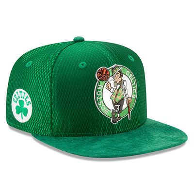 sale retailer bef09 25a48 Youth Boston Celtics New Era Kelly Green 2017 NBA Draft Official On Court  Collection 9FIFTY Snapback Hat