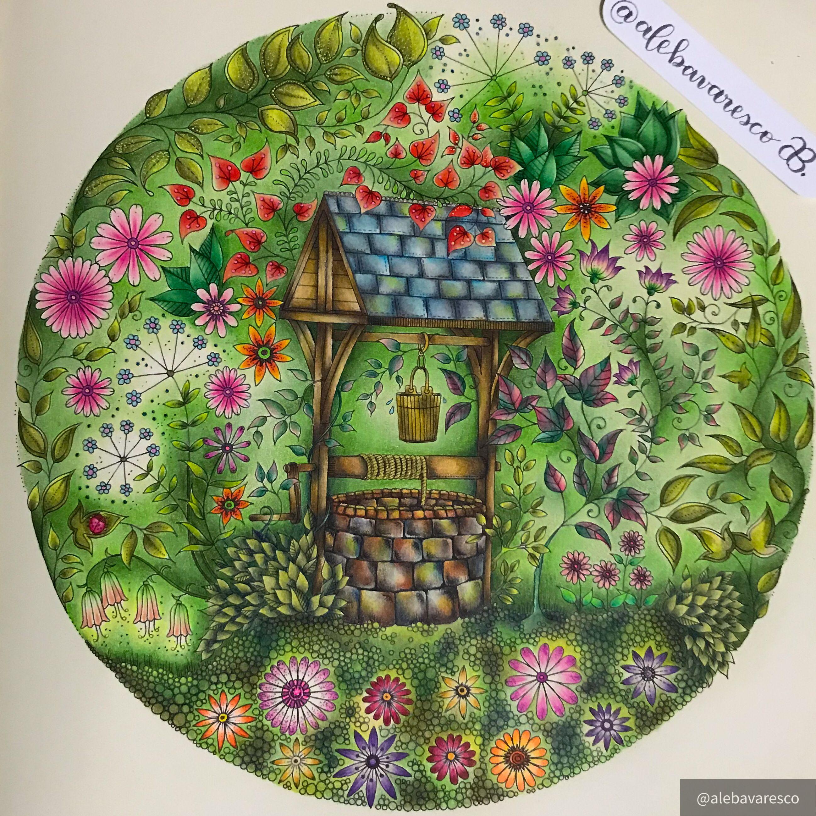 Secret Garden Secret Garden Coloring Book Secret Garden Coloring Book Finished Coloring Book Art