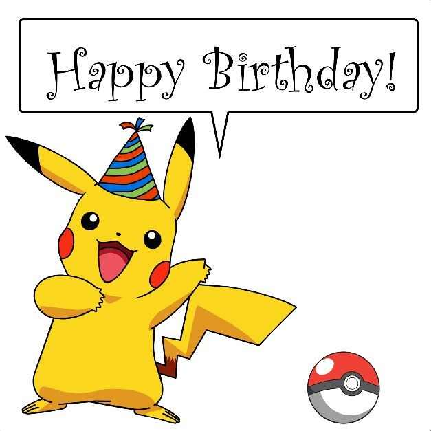 Pikachu birthday Happy Birthday sayings and pics – Birthday Pikachu Card