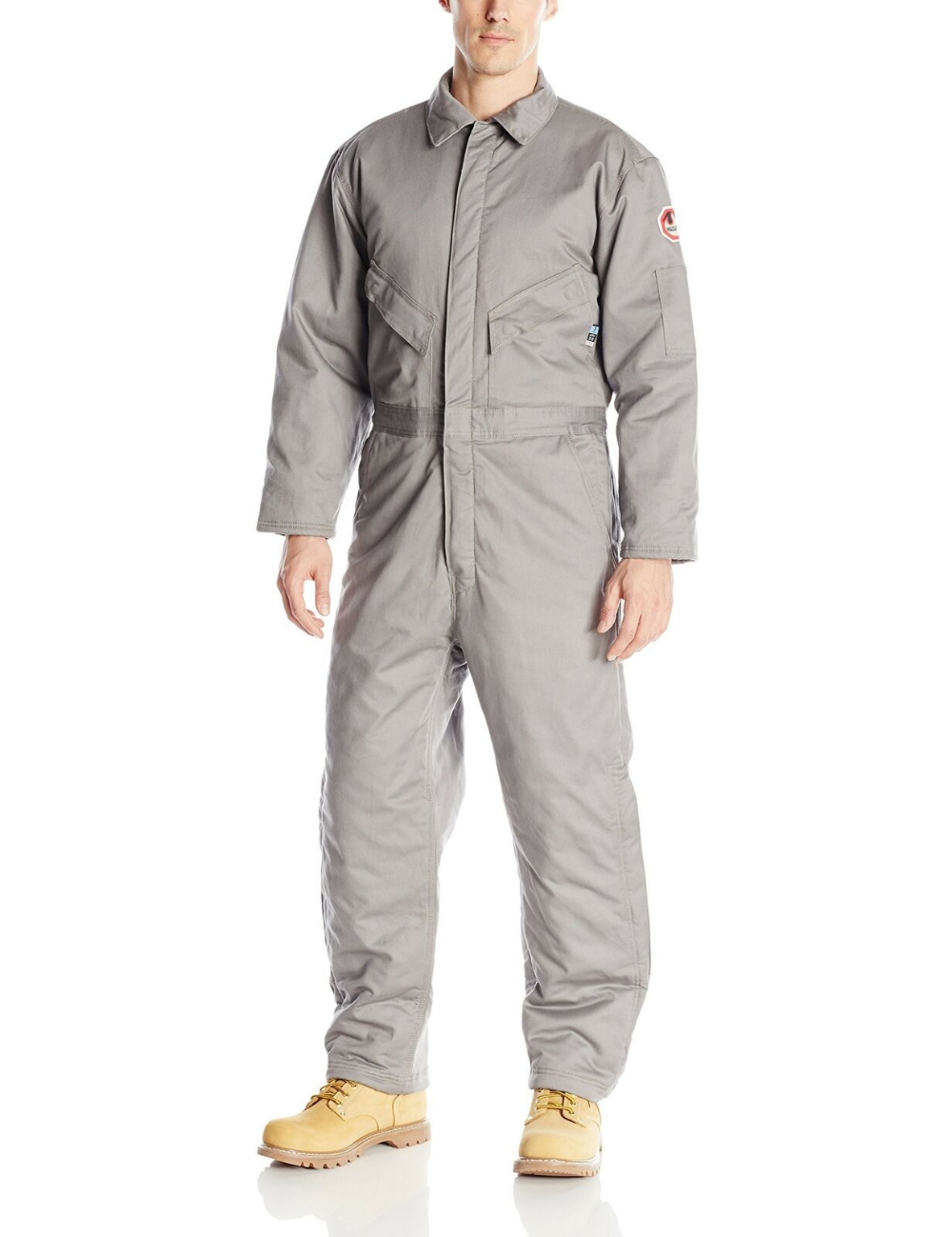 walls men s flame resistant insulated coverall gray tall on insulated overalls id=63563