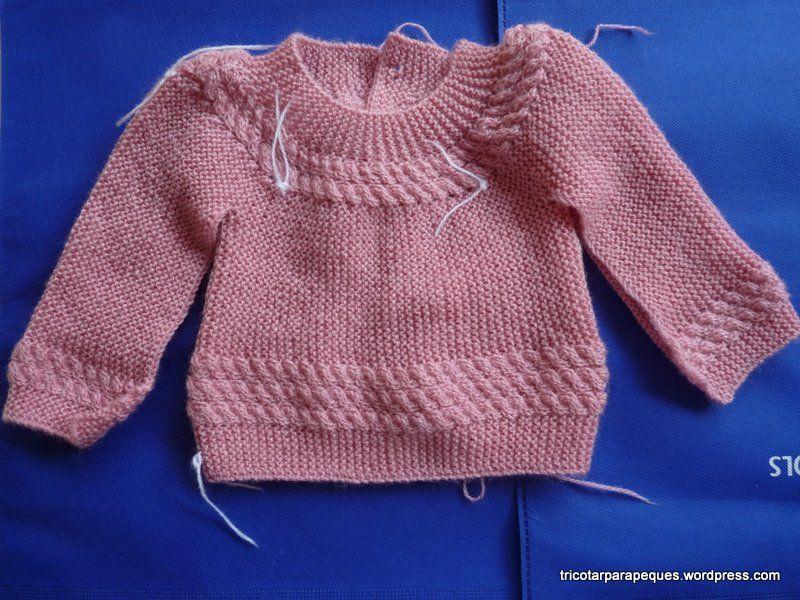 Jersey para bebé en una sola pieza, muy fácil de realizar. Lovely ...