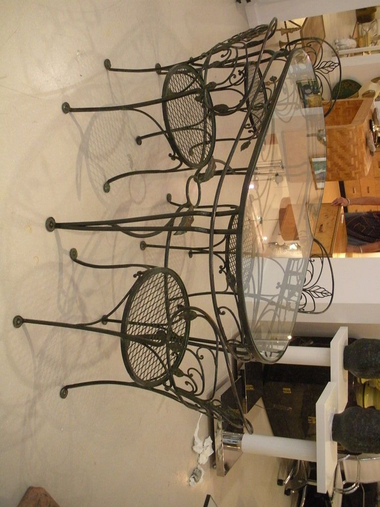 Amazing Portrait Of Wrought Iron Kitchen Tables Displaying Attractive Furniture  Ideas