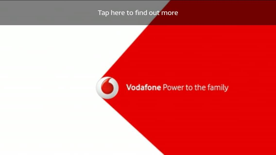 Vodafone Running Vod To Promote Their Shared Deals More Info On