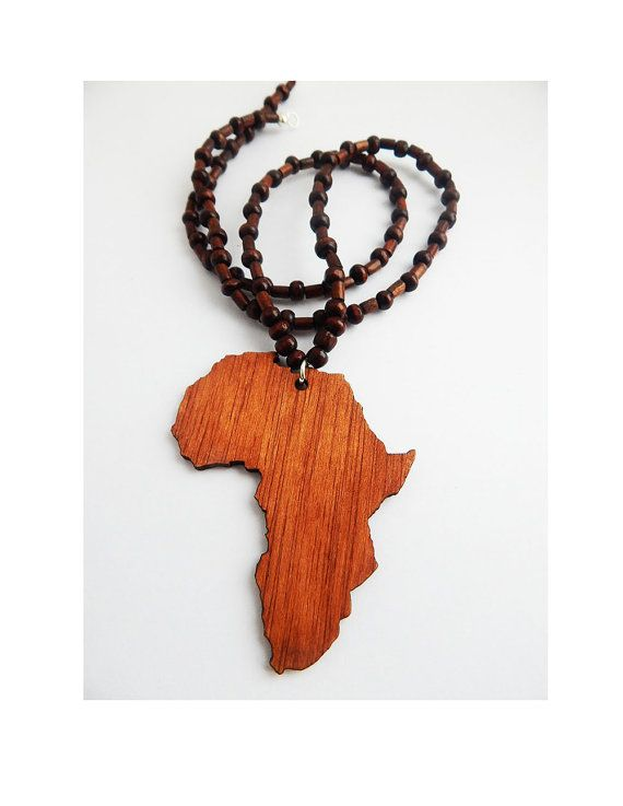 Wooden africa necklace wood africa jewelry beaded africa shape wooden africa necklace wood africa jewelry beaded africa shape motherland mens jewellery africa pendant mozeypictures Choice Image