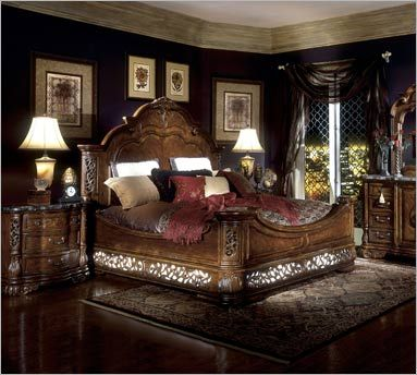 Marvelous AICO Excelsior Collection N590Q Queen Bedroom Set