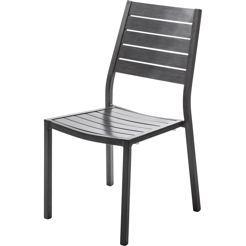 Chaise de jardin en aluminium Antibes ice/argent NATERIAL en ...