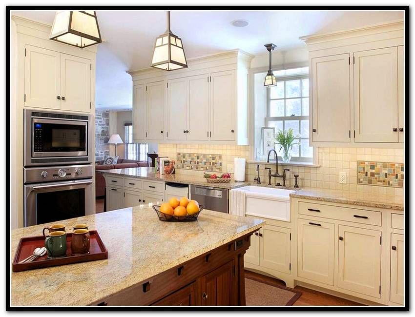 White Craftsman Style Kitchen Cabinets With Images Craftsman