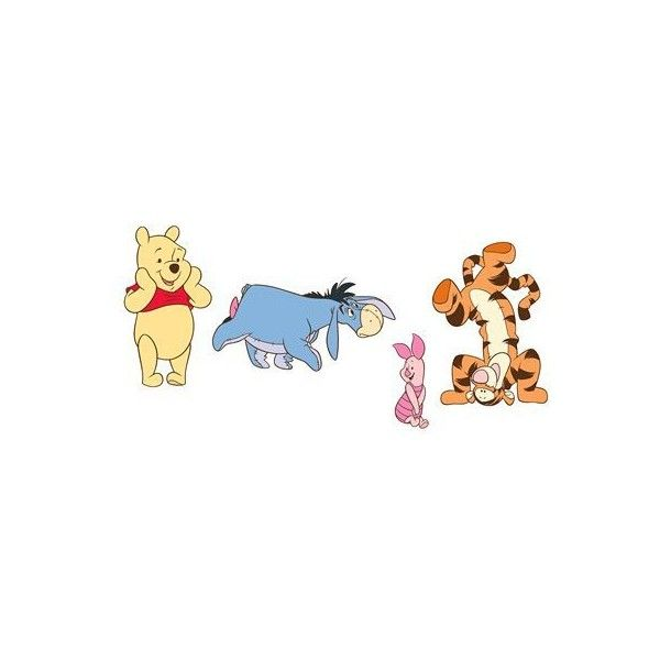 Fathead Winnie The Pooh Wall Graphic ($81) ❤ liked on Polyvore featuring home, children's room, children's decor, disney, kids' décor and wall décor