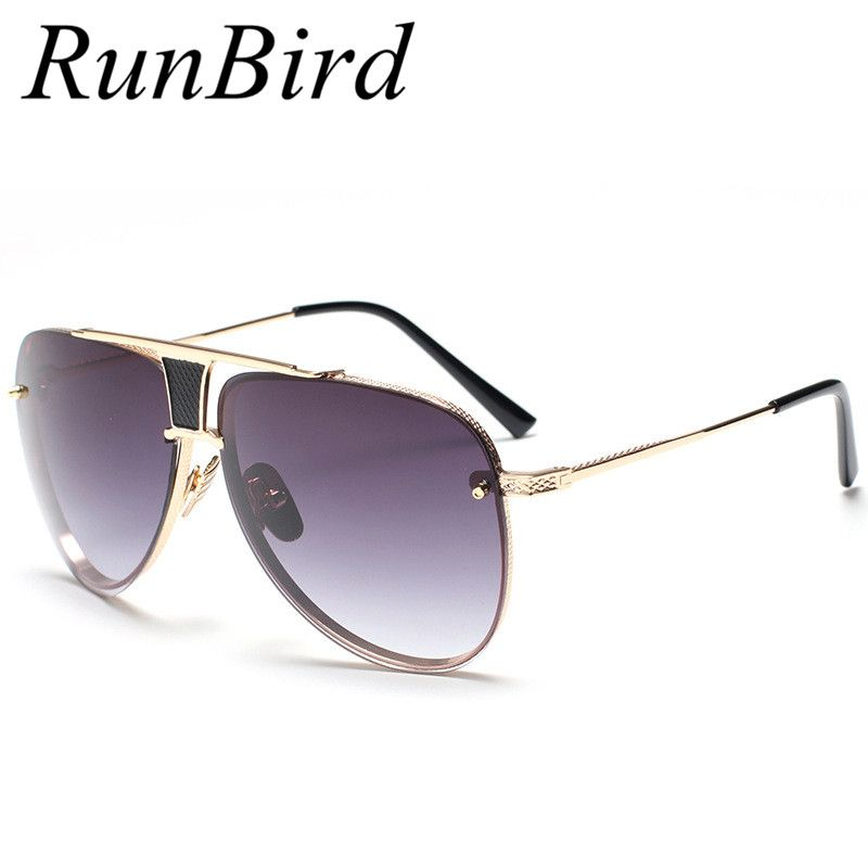 222095f830 Runbird Square Sunglasses Men Luxury Brand Designer Metal Frame UV400 Women Sun  Glasses Male High Quality