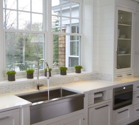 vicente burin architects kitchens stainless steel sink apron sink focal point - Stainless Steel Apron Sink