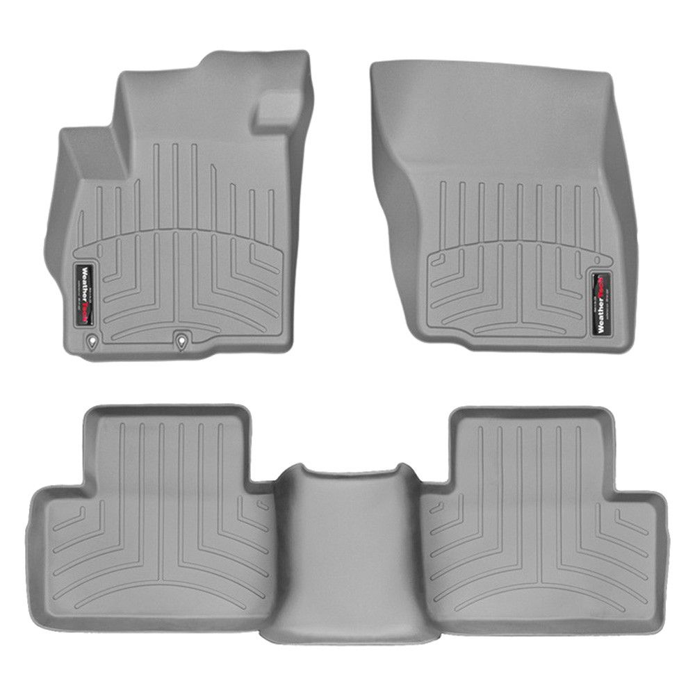 "WeatherTech 466511-461623 Series Grey Front and Rear FloorLiner - FloorLiner(TM) In the quest for the most advanced concept in floor protection, the talented designers and engineers at WeatherTech(R) have worked tirelessly to develop the most advanced floor protection available today! The WeatherTech(R) FloorLiner(TM) accurately and completely lines the interior carpet giving ""absolute interior protection(TM)""! The WeatherTech(R) FloorLiner(TM) lines the interior carpet up the front, back…"
