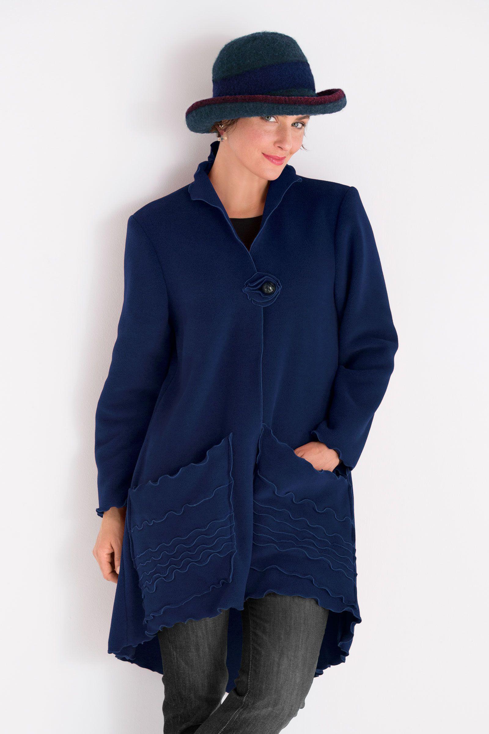 Whimsical fleece jacket by giselle shepatin fleece jacket aa