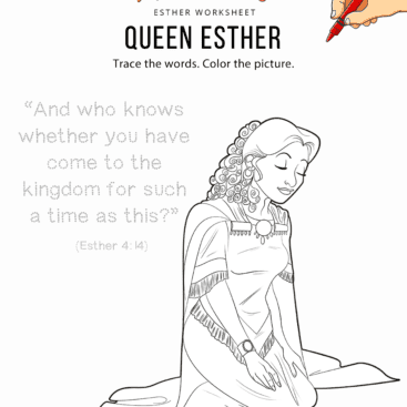 esther bible bible coloring pages