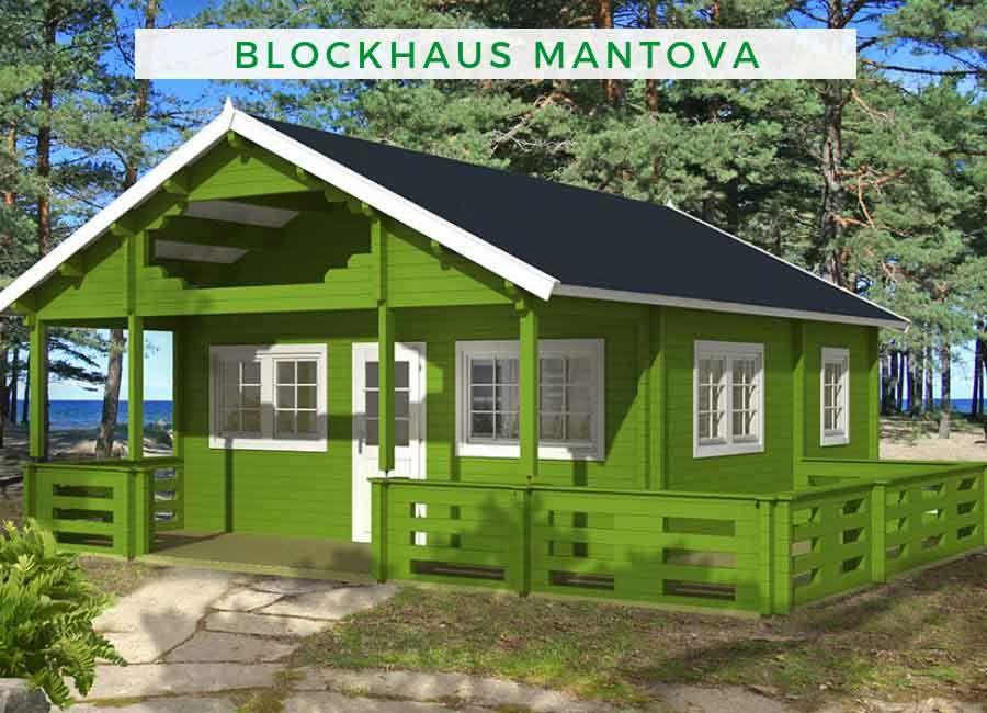 Blockhaus Modell Mantova 70 | Gartenhäuser mit Satteldach in ...