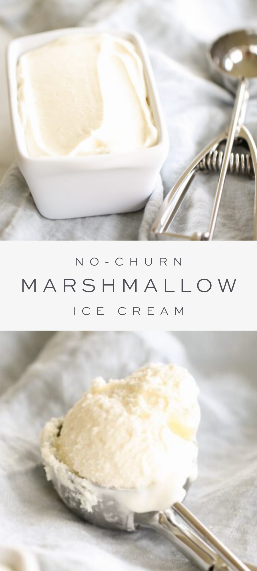 3 Ingredient Marshmallow Ice Cream Recipe