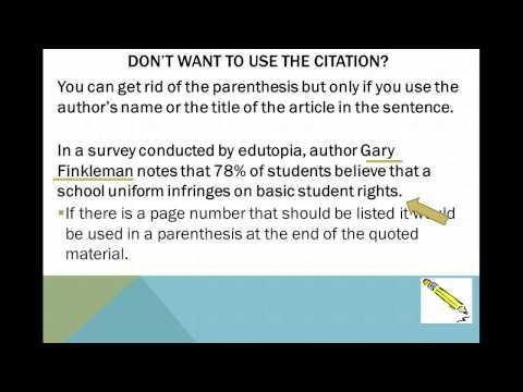 In Text Citation Works Cited Youtube Video Writing A Persuasive Essay Good Grammar Teaching Curriculum