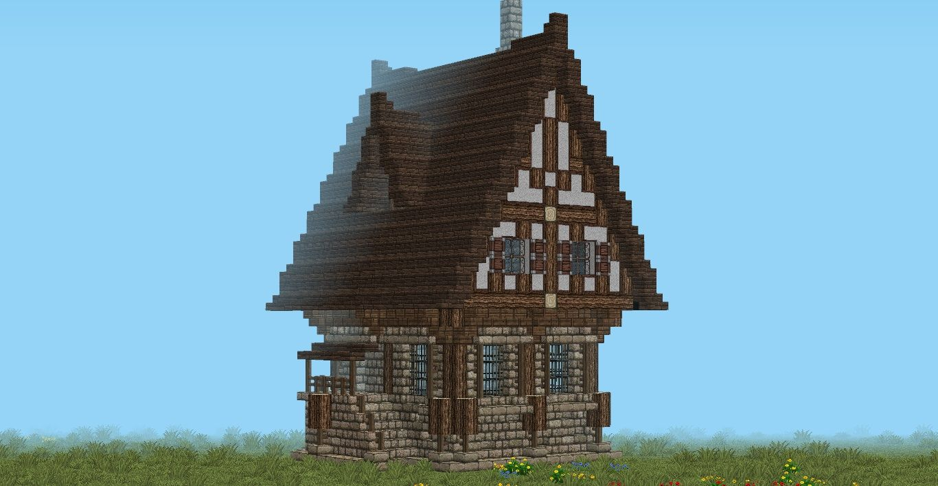 Medieval building super cute medieval minecraft building for House building blueprints