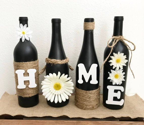 These Are One Of My Top Sellers At Craft Shows And On My Facebook Site They Are Just Stunning And Simple And Absolutely Gorgeous T Painted Wine Bottles Christmas Wine Bottles