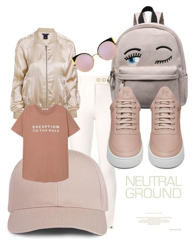 """casually neutral"" by kyliebelinda ❤ liked on Polyvore featuring Tory Burch, MANGO, Filling Pieces and Fendi"