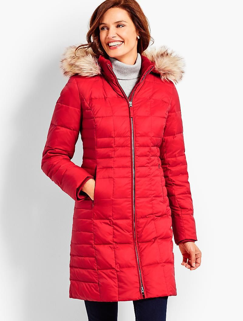 Warm Women S Red Winter Jacket With Fur Hood Red Puffer Coat Clothes Puffer Coat [ 1057 x 800 Pixel ]