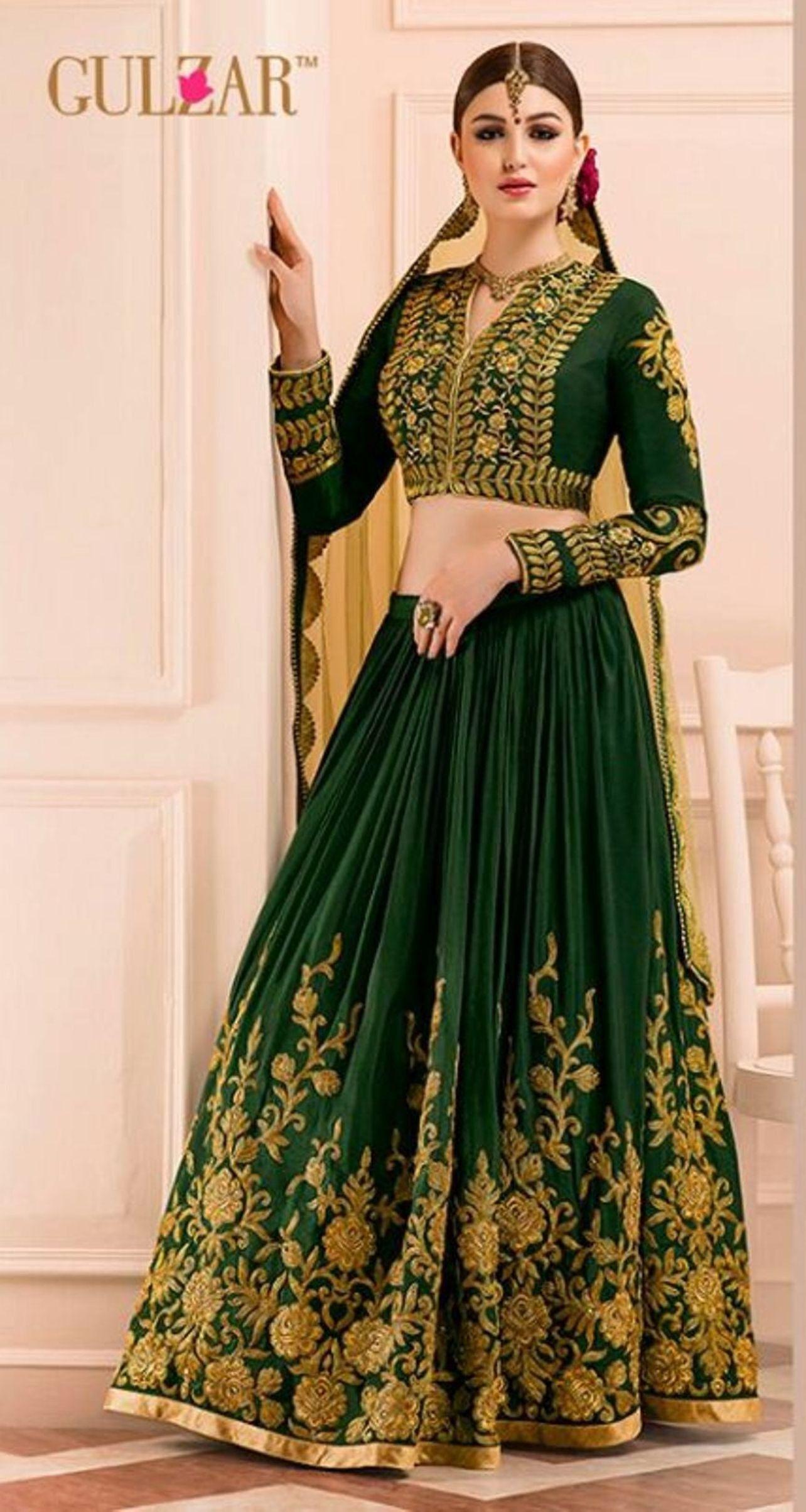 cb56a79c15 Buy Apparels- Dark Green Colour Banglori Silk Designer Wedding Wear Lehenga  Choli