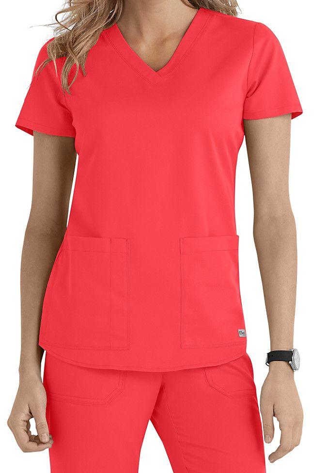 Greys Anatomy v-neck 2-pocket scrub top. Main Image | medical ...