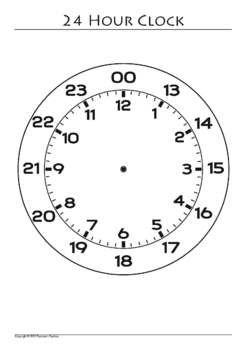 Clock Template Clip Art 24 Clocks Blank Ones Included Pngs And