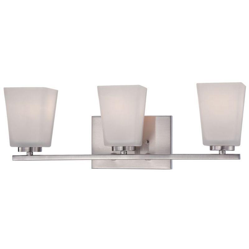 Photo of Millennium Lighting 293-BN Brushed Nickel Spalding 3 Light Bathroom Vanity Light