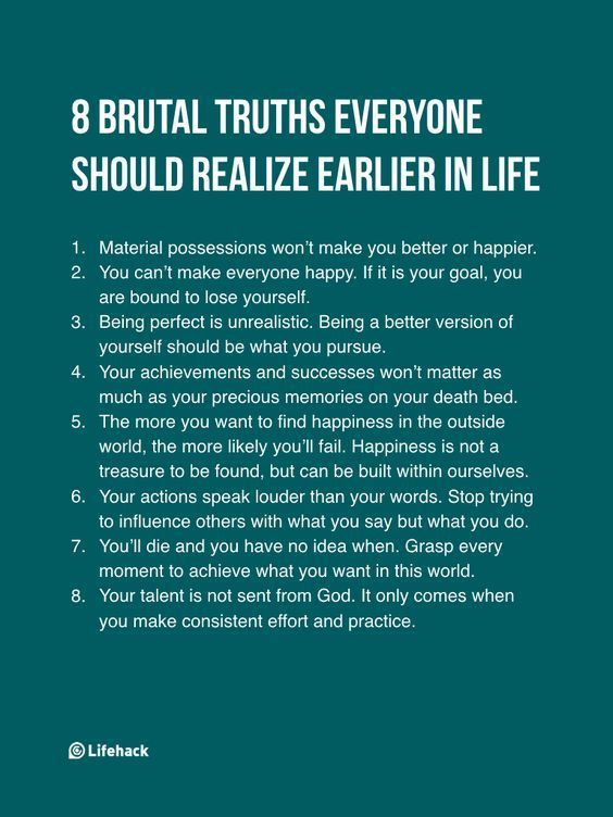 8 Brutal Truths… | Life lessons, Hard truth, Life quotes