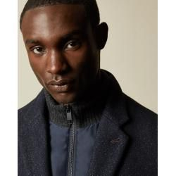 Photo of Subtly patterned wool coat Ted Baker